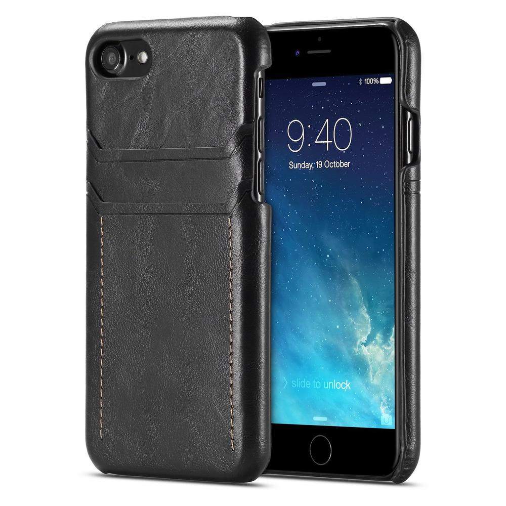 Luxury Leather Back Case for iPhone 8, 7