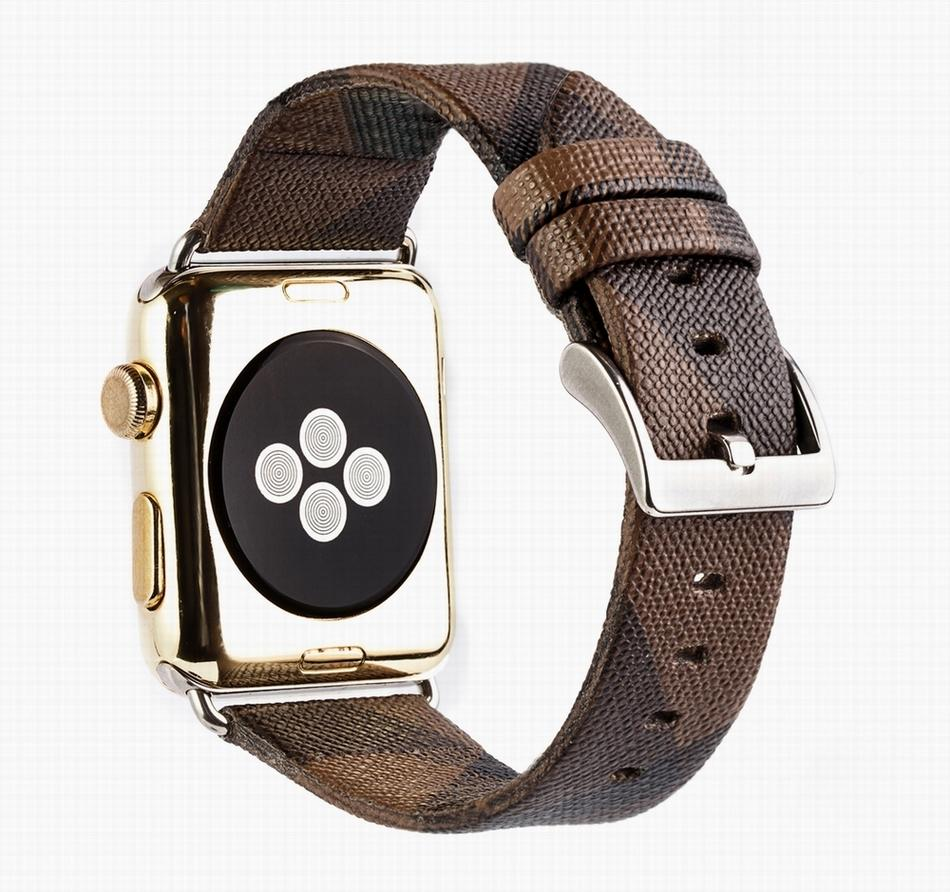 Soft Leather Sport Style Genuine Leather Watch Strap Replacement iWatch Band Strap BLAP181063