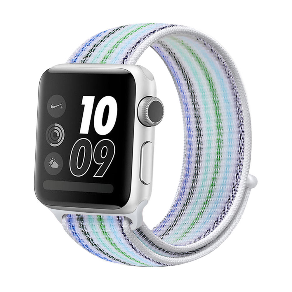 Lightweight Breathable Woven Nylon Loop Strap for iWatch FLS381001