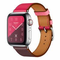 Leather Watch Band Strap Stylish Dual-color Wristband Bracelet BLAP181070