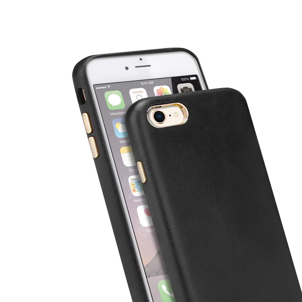 Case for Apple iPhone Smooth Genuine Leather Hard Case GLPC016
